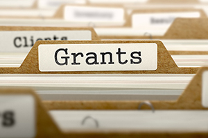 File folder tab marked Grants