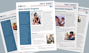 covers of four FYSB factsheets