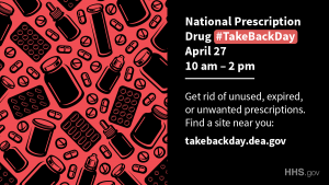 Image promoting National Drug Take Back Day 2019