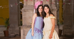 Two young women celebrating their quinceañeras.