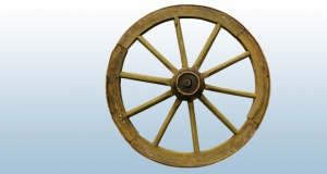 Photograph of a wheel.