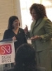 Photo of Susan Frankel, Director of the NRS, presenting an award to Debbie Powell, FYSB Deputy Associate Commissioner
