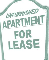 Clip art of a lease sign.