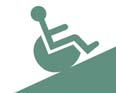 Clip art of a person in a wheelchair.